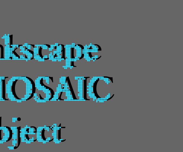 inkscapeでIllustratorのモザイクオブジェクト機能を再現してロゴを作るチュートリアル