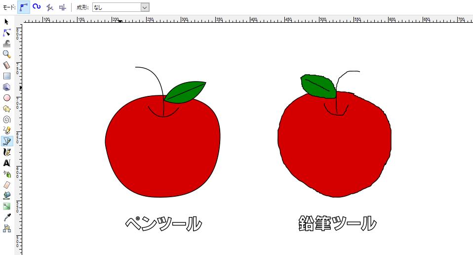 inkscapeのペンツールとノードツール 基本操作【映像あり】