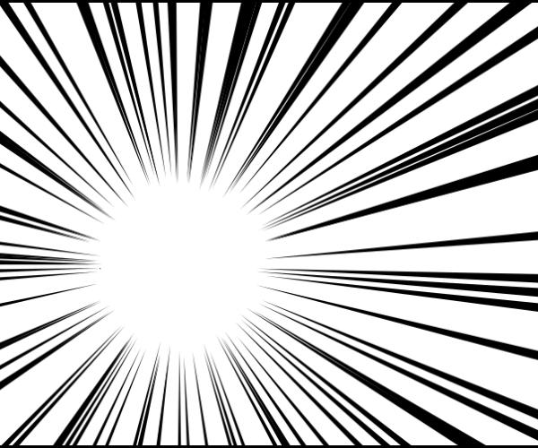 inkscapeを使って集中線・放射線を思い通りの仕上がりに