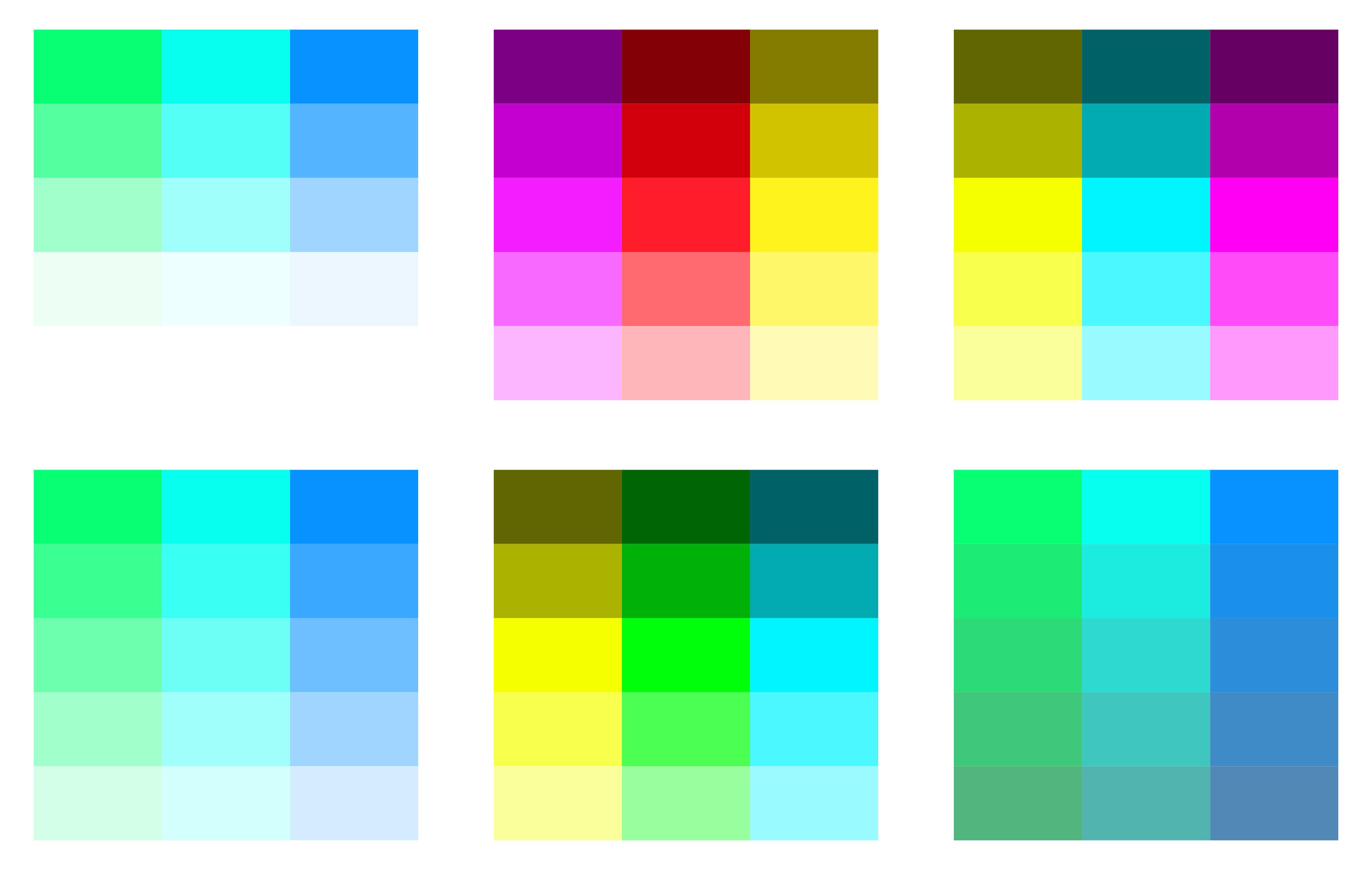 Inkscapeで配色用のカラーパレットを簡単に作る方法