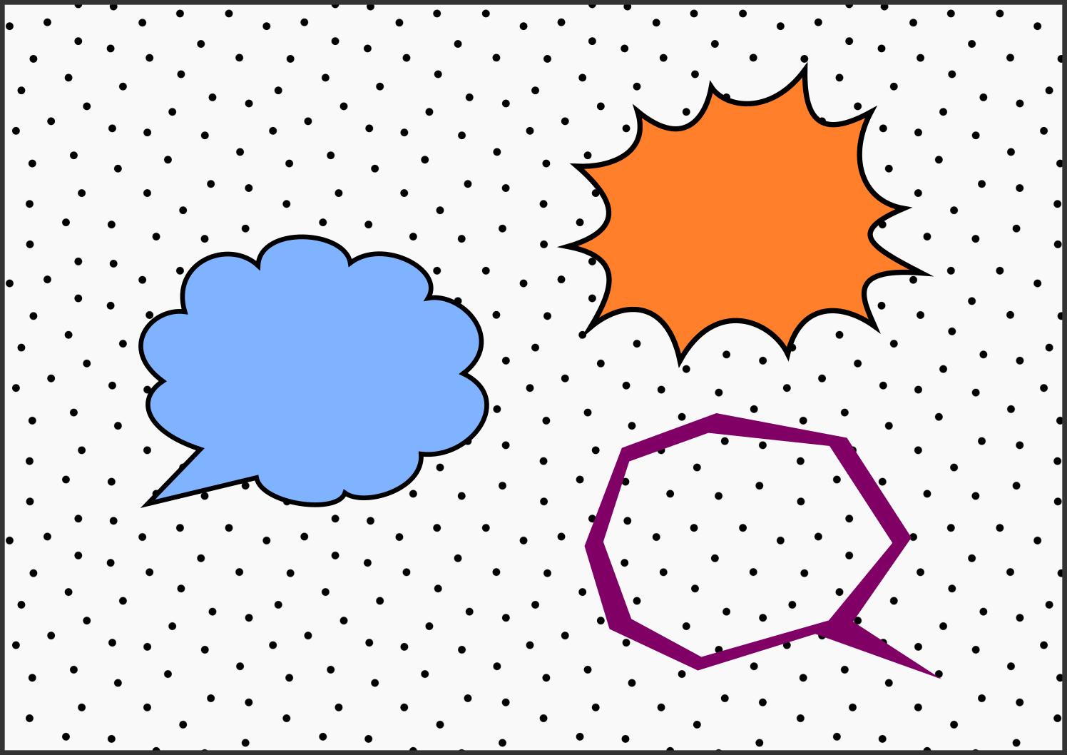 Inkscapeのシェイプとパス編集でいろんな「吹き出し」を作ってみた